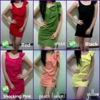 TSD1205 , dress/baju/terusan/mini dress pita