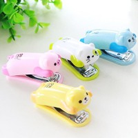 Staples Animal + Isi / Mini Stapler Set Cute Cartoon Unik Lucu