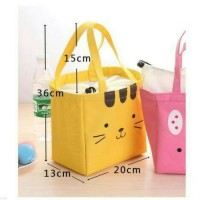 animal cute face lunch bag