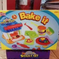 Jual mainan anak edukasi edukatif pasir lilin fun doh play doh bake it Murah