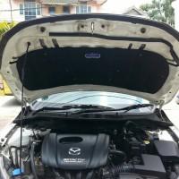 peredam panas cap mesin Mazda2