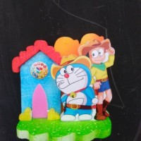 background Hiasan kue ulang tahun doraemon small