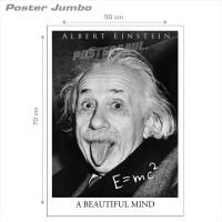 Poster ALBERT EINSTEIN: A BEAUTIFUL MIND - Jumbo size 50 x 70 cm
