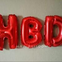 Jual Balon Huruf Merah HBD Paket Murah