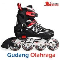 Sepatu Roda (Size M) Inline Skate COUGAR Black Produk Asli 8dd5eedfbb