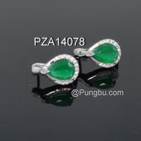 Anting PZA14078 Hijau Zamrud