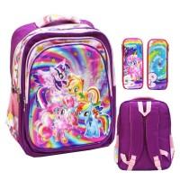 Jual Tas Anak Sekolah SD My Little Pony 5d Timbul 4 Ktng Besar dan Kot Murah