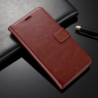 Leather Case Casing Kulit Flip Wallet Cover Samsung Galaxy J7 Prime