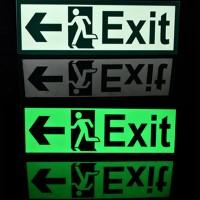 Stiker Fosfor Exit | Emergency Exit | Stiker Keluar 10x30cm
