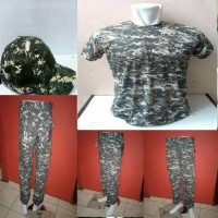 Jual seragam army celana+topi+oblong Murah