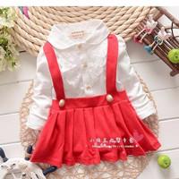 Dress baju anak cewek perempuan bayi balita warna merah best seller