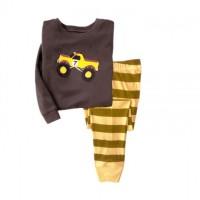 Baju tidur anak laki-laki/Piyama GAP Hk anak laki-laki Yellow Truck 7