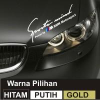 Cutting Sticker BMW Sport Mind Power By BMW Motorsport