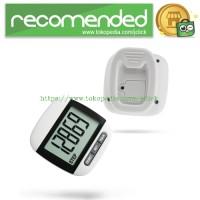 Multifunction Digital Pedometer Step Movement Calories Counter - Black