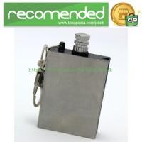 Gantungan Kunci Pemantik Api Creative Lighter Matches - Silver