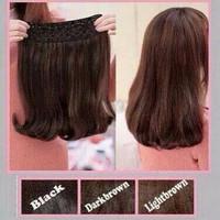 hair clip/hairclip/hair klip blow straight 40cm/wig/ponytail