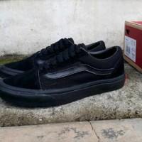 Sepatu Sneakers Vans Old Skool All Black Waffle DT Casual Pria Kuliah