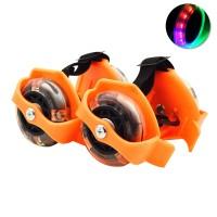 Jual Sepatu Roda Anak FLASHING ROLLER orange Sepatu olahraga murah baru new Murah