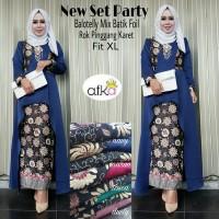 new set party, setelan hijab batik kebaya + rok terbaru, murah