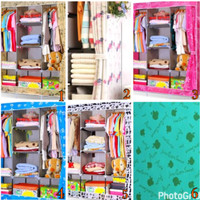 RAK baju besar jumbo ( cloth rack with cover BIG SIZE)