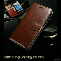 Jual Flip Cover Samsung Galaxy C9 Pro Leather Wallet Case Premium Murah