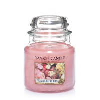 Yankee Candle Medium Jar Candle - Lilin Wangi - Fresh Cut Roses