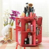 Rak Kosmetik Desktop Storage Rotate Tempat Kosmetik Putar