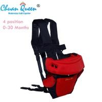 Chuan Queen Baby Carrier Chuan-Que 4 in 1 Gendongan Bayi (Merah)
