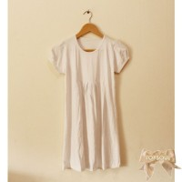 TSD1218-White , dress / terusan warna putih bahan spandek