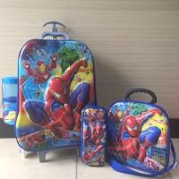 Jual Tas Trolley Anak 6D 4 in 1 Set Spiderman Murah
