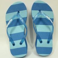 harga Sandal Japit Wedges Strip 7 cm Biru Tokopedia.com
