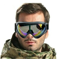 kacamata goggles airsoftgun helm sepeda cross trail downhill tactical