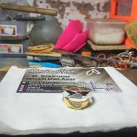 cincin kawin nikah tunangan couple perak lapis emas dan rhodium