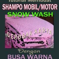Cara Membuat Shampo Mobil/Snow Wash/Ice Cream Busa Berwarna | TUTORIAL