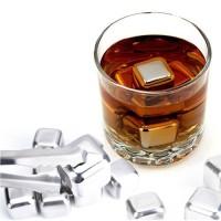 Jual Paket 5 pieces Stainless Steel Whiskey Stones Ice Cubes - Batu Es Wine Murah