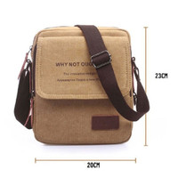 Vanker Outdoor Travel Vintage Men Canvas Messenger Shoulder Soft Cross