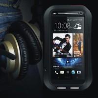 Bumper Love Mei Powerful Small Hard Soft Case Cover Casing HTC One M7