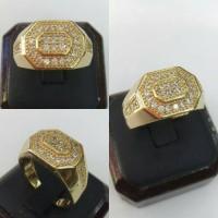 Cincin Berlian 29 Mata Perak Natural Diamond Silver Ring
