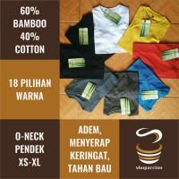 Jual Kaos Polos Katun Bambu (Cotton Bamboo) Murah