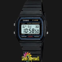 Jam Tangan Unisex Casio F 91W 1DG - Resin Band