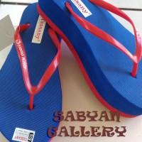 harga Sandal Spons Wedges Datar / Sandal Model Hiu / Sandal Platform Tokopedia.com