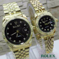 ROLEX SEPASANG GOLD COVER BLACK