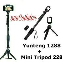 Jual Tongsis Bluetooth Yunteng YT-1288 + Mini Tripod YT-288 Murah