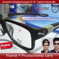 Jual Kacamata Puma + Photocromic Lensa Minus | Frame Baca Sporty Pria/Cewek Murah