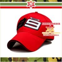 Topi Baseball Cap / Topi Pria Bordir 99 lorenzo Ducati forTopi Merah