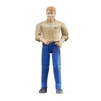 harga Bruder 60006 Man W/ Light Skin And Blue Jeans - Mainan Anak Tokopedia.com