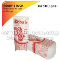 Bungkus Kemasan Dus Box Kebab ART KARTON uk 8.5 x 20 cm Cetak 1 Warna