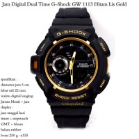 JAM TANGAN PRIA CASUAL SPORTY CASIO GSHOCK GW 1113 BLACK LIS GOLD