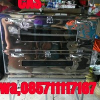 oven gas kue bahan stainlis uk 90x55x65cm