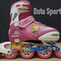 Sepatu Roda Anak Roda Karet Harga Murah TQ 2014 ( Pink ) caa0b899fc